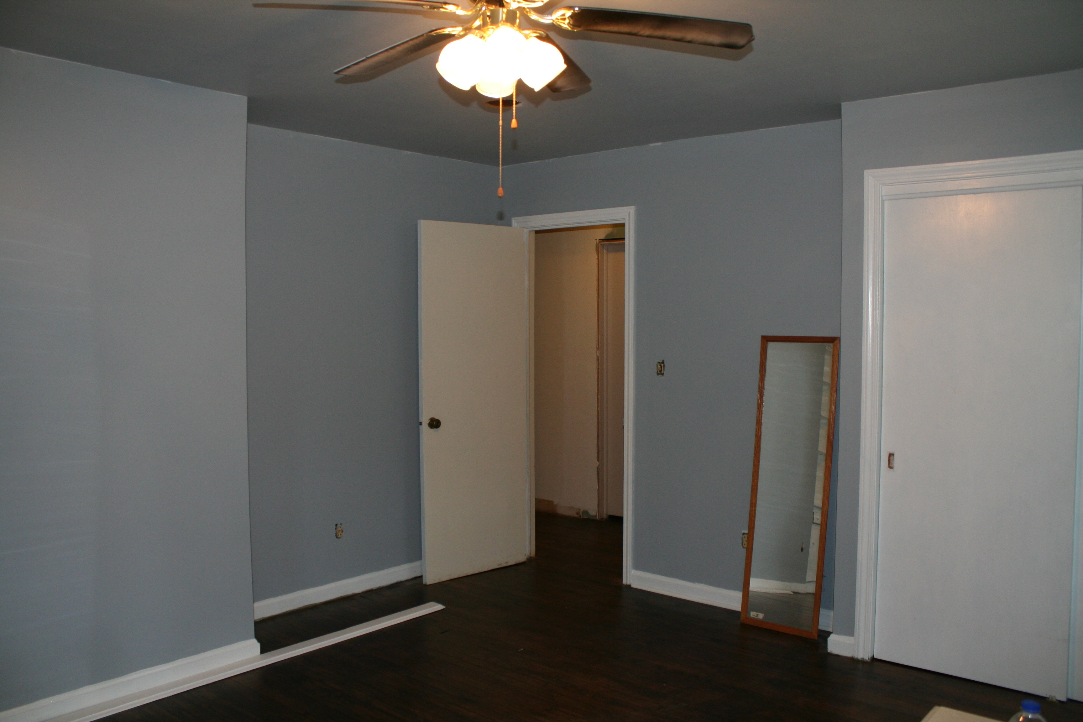 Room Painted Dove Gray And Blue Cotton